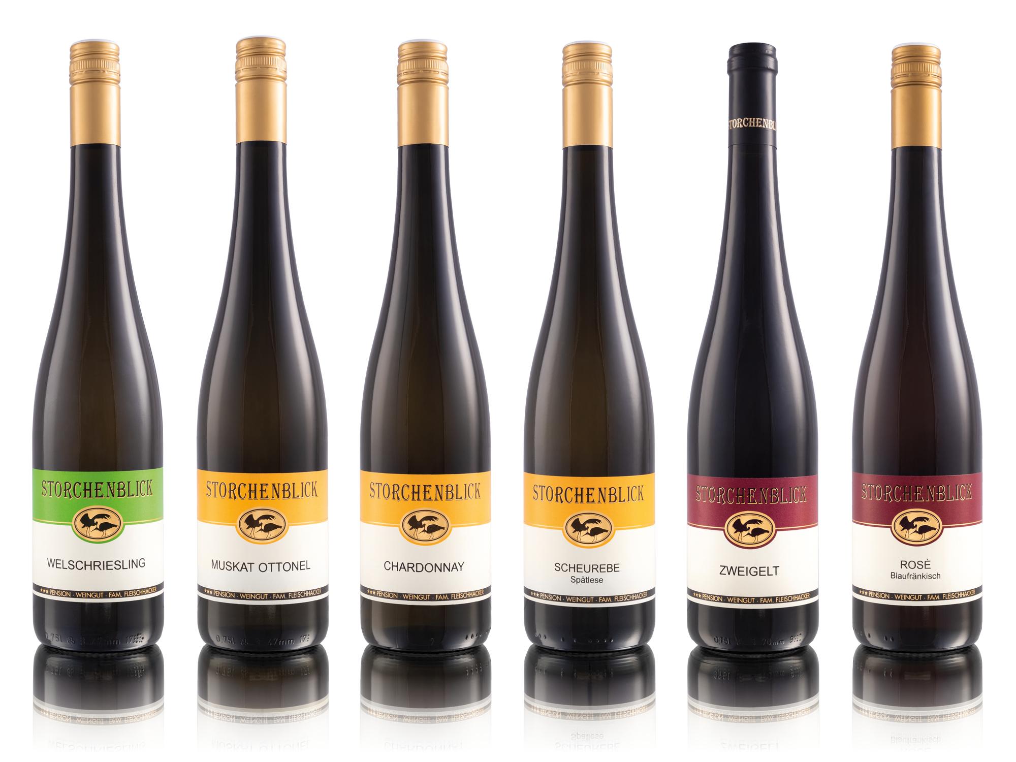 Weinflaschen Weingut Storchenblick